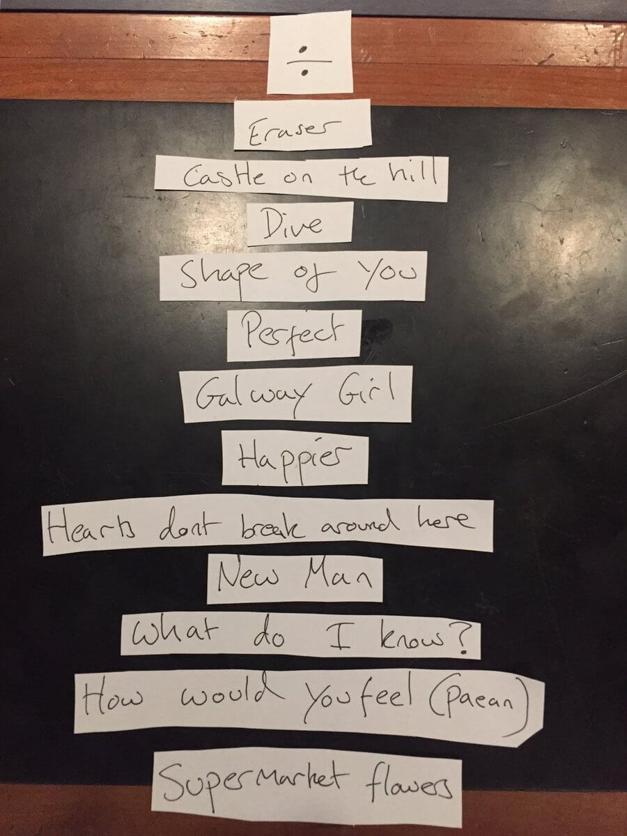 "Ed Sheeran reveals the tracklist of ""Divide"""