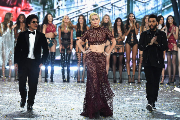 Lady Gaga,Bruno Mars and The Weeknd live on Victoria's Secret Fashion Show